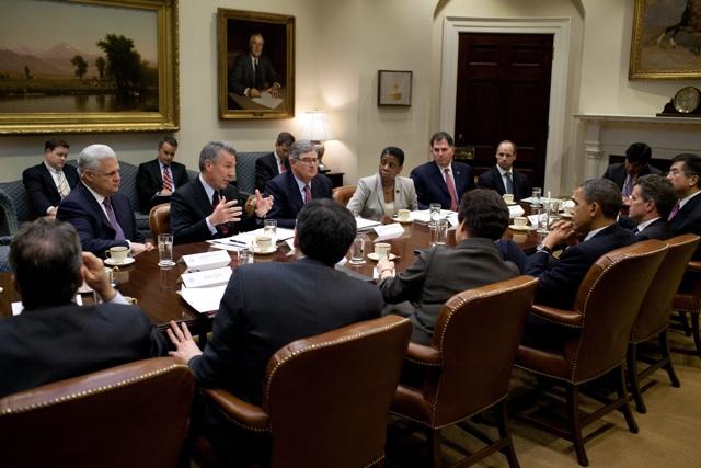 EMC的老板和奥巴马童鞋开会